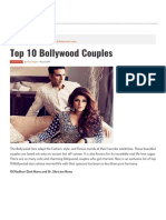 Top 10 Bollywood Couples in India | Top10twist