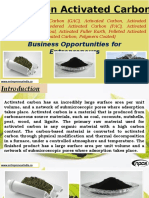Projects on Activated Carbon (Granular Activated Carbon (GAC), Activated Carbon, Activated Carbon Powder, Powdered Activated Carbon (PAC), Activated Charcoal, Activated Coal, Activated Fuller Earth, Pelleted Activated Carbon (EAC), Impregnated Carbon, Polymers Coated)- Business Opportunities for Entrepreneurs