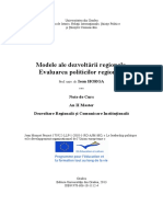 Ioan HORGA - Modele Ale Dezvoltarii Regionale