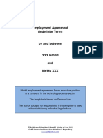 Model Employment Contract Germany English 2013