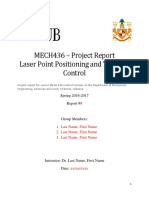 MECH436 Project Report Template Spring2017 Rev4
