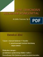Deteksi Dini, Diagnosis Kelainan Kongenital