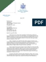 Governor Cuomo Letter to FEMA 7.6.17
