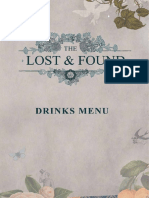 Lost and Found Cocktail Menu