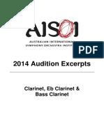 AISOI 2014 Clarinet Excerpts