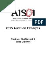 AISOI 2015 Clarinet Excerpts