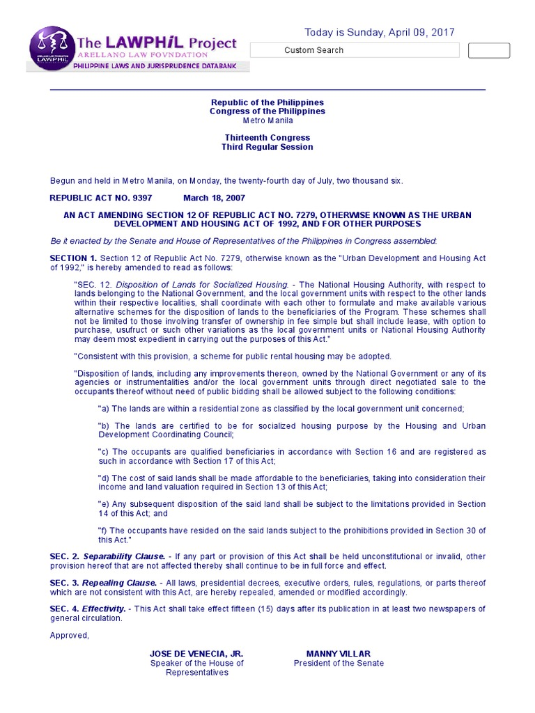 Housing and Community Development Act - Wikipedia