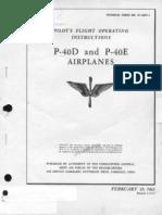 Pilot\'s Flight operating instructions