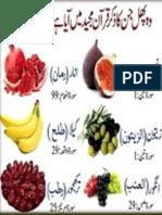 Medicinal Fruits in Holy Quran