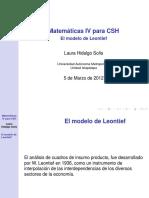 Matematicas IV Para CSH