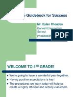 4th grade guidebook for success