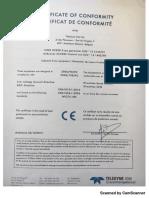 Certificat de Conformitè D2008