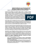 DEMUS Informe Técnico Reglamento Ley 30364 1