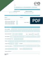 Formulario de Candidatura Ao Procedimento Concursal Mod. 232