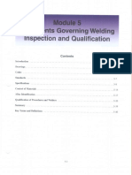 Document Governing Welding Inspection and Qualifica