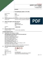Formaldehyde MSDS