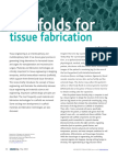 Scaffolds for Tissue Fabrication 2004 Materials Today