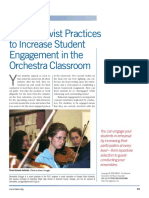 Constructivist Practices to Increase Student Engagement in the Orchestra Classroom