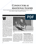 Conductor as Transformational Leader