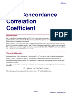 Lin's Concordance Correlation Coefficient