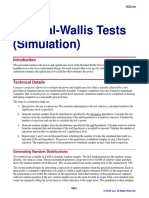 Kruskal-Wallis Tests (Simulation)