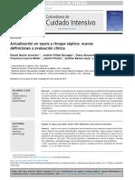 Actualización en sepsis y choque séptico  nuevas definiciones y evaluación clínica