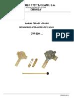 M.U.-mecanismo Operadores Tipo Disco_DW-900