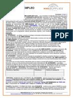 Acuerdo de Empleo Ayudante Elias Castillo 10 Al 12 Abril