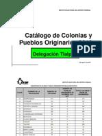 Catálogo de Colonias y Pueblos Originarios de Tlalpan (IEDF 2010)