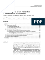 Serenoa repens (Saw Palmetto) A Systematic Review of Adverse Events