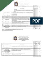 Cuadros de Cronogramas Del Servicio Comunitario