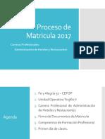 Proceso de Matricula 2017 I Semestre