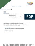 Periodo de Adaptación y Evaluación 2015