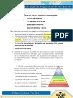 Evidencia 8 Desarrollo Humano Integral en El Contexto Global