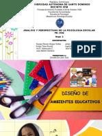 2 Diseño de Ambientes Educativos, Grupo 2 Maestria en Psi. Escolar