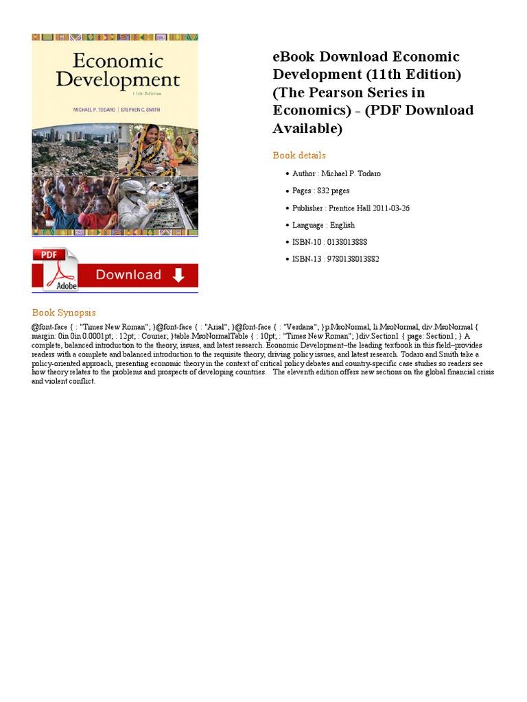 Economic development 11th e books publishing fandeluxe Choice Image