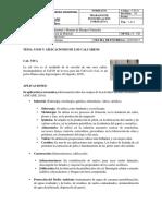 USOS Y APLICACIONES DE CALCÁREOS