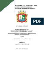 CARACTERÍSTICAS DEL  INFILTRÓMETRO DE DOBLE ANILLO