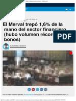 El Merval Trepó 1,6% de La Mano Del Sector Financiero (Hubo Volumen Récord en b
