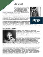 Biografia de guatemaltecos Humberto Ak´abal