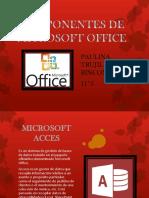 COMPONENTES de MICROSOFT OFFICE (1) Pauliiiiiiiiiiiiiiiiiiiiiiiiiiiiiiiiiiii