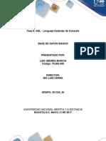 Fase 8 SQL - Lenguaje Estándar de Consulta