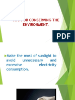 Tips for Conserving the Environment