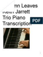 Autumn Leaves Keith Jarrett Trio Piano