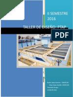 Tarea diseño de planta de tratamiento de agua