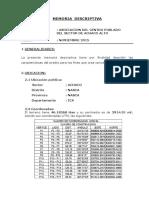 Memoria Descriptiva Achaco Wgs84 Mc