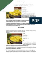 2 Recetas Español e Ingles