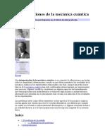 Interpretaciones de La Mecánica Cuántica