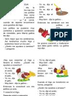 Lectura La Gallinita Colorada - Segundo Primaria
