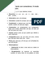 Ejemplo de Texto Con Conectores